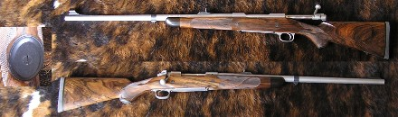 WINCHESTER M79 SAFARI Stainless 375 H&H Exhibition English